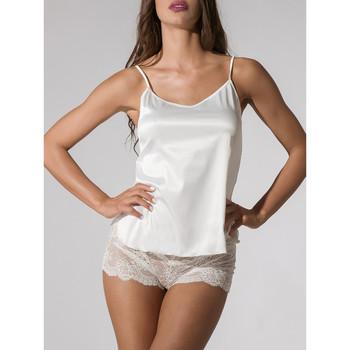 Textiel Dames Pyjama's / nachthemden Luna Satin Camisole Prestige Ivory  Splendida Geel