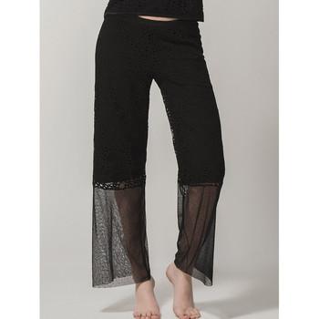 Textiel Dames Losse broeken / Harembroeken Luna Prestige Lounge Pants  Splendida Parelmoer Zwart