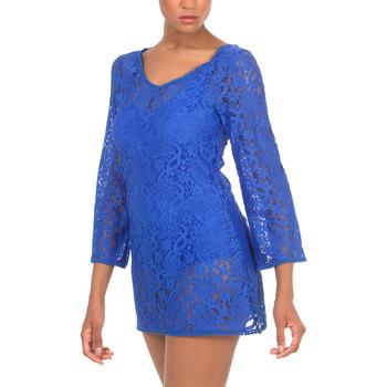 Textiel Dames Korte jurken Selmark Korte strandjurk  Mare blauw Blauw