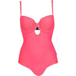 Textiel Dames Badpak Lisca Acapulco  rood 1-delig voorgevormd zwempak Zand