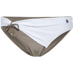 Textiel Dames Bikinibroekjes- en tops Beachlife Wit Strandlife Geplooide Zwempakkousen Wit
