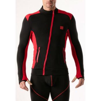 Textiel Heren Sweaters / Sweatshirts Code 22 Compressie-jasje Code22 Parelmoer Zwart