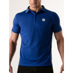 Textiel Heren Polo's korte mouwen Code 22 Pinhole Polo Shirt Code22 Blauw