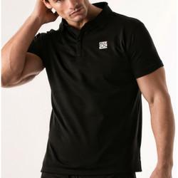 Textiel Heren Polo's korte mouwen Code 22 Pinhole Polo Shirt Code22 Parelmoer Zwart