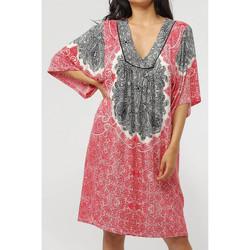 Textiel Dames Korte jurken Admas Strandjurk met driekwart mouwen Beach Paisley Zand