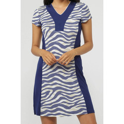 Textiel Dames Korte jurken Admas Navy Skin  Beach Dress Blauw