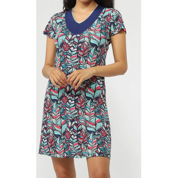 Textiel Dames Korte jurken Admas Strandjurk Plumas Blauw