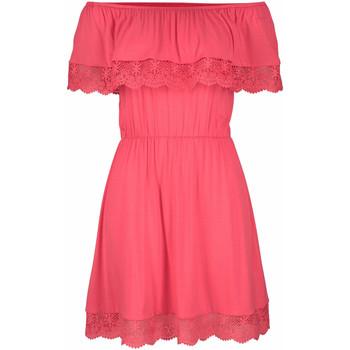 Textiel Dames Korte jurken Lascana Holly  koraalstrand jurk Wit Kant