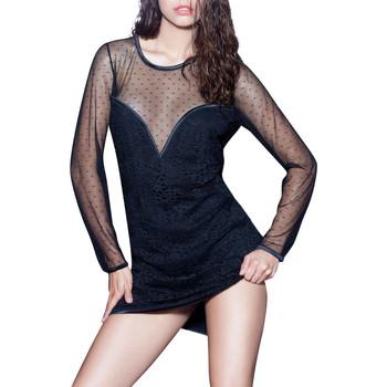 Textiel Dames Korte jurken Luna Prestige Lounge  Splendida jurk met lange mouwen Parelmoer Zwart
