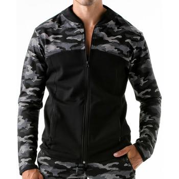 Textiel Heren Sweaters / Sweatshirts Code 22 Urban Camo Code22 Sportjasje Chocolade