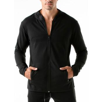 Textiel Heren Sweaters / Sweatshirts Code 22 Urban Camo Code22 Sportjasje Parelmoer Zwart