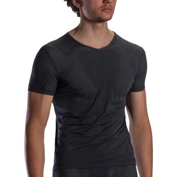 Textiel Heren T-shirts korte mouwen Olaf Benz V-hals T-shirt RED1871 Parelmoer Zwart