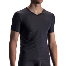 Textiel Heren T-shirts korte mouwen Olaf Benz T-shirt RED1866 Parelmoer Zwart
