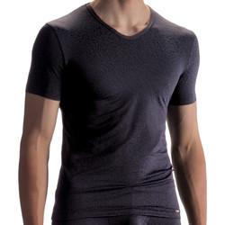 Textiel Heren T-shirts korte mouwen Olaf Benz T-shirt PEARL1858 Parelmoer Zwart