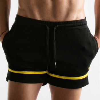 Textiel Heren Korte broeken / Bermuda's Code 22 Korte Pinhole Code22 Parelmoer Zwart