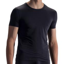 Textiel Heren T-shirts korte mouwen Olaf Benz T-shirt RED1868 Parelmoer Zwart