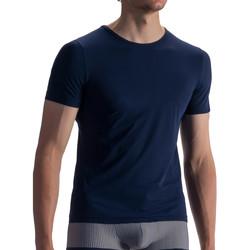 Textiel Heren T-shirts korte mouwen Olaf Benz T-shirt RED1862 Night Blauw