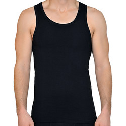 Textiel Heren Mouwloze tops Lisca Apolon  Men Tank Top Parelmoer Zwart