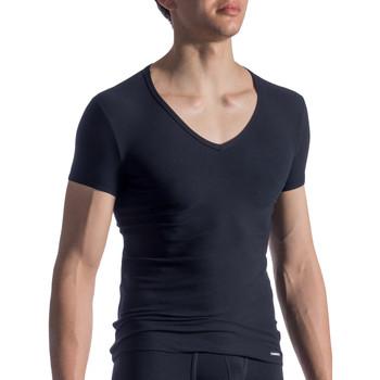Textiel Heren T-shirts korte mouwen Manstore M811  T-Shirt Parelmoer Zwart