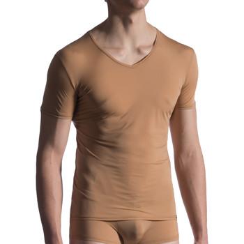 Textiel Heren T-shirts korte mouwen Manstore M808  Onzichtbaar T-Shirt Pruim
