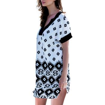 Textiel Dames Korte jurken Admas Beach Dress Surfs Adma's Wit