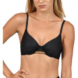 Textiel Dames Bikinibroekjes- en tops Lisca Bari  Zwempak Top Parelmoer Zwart