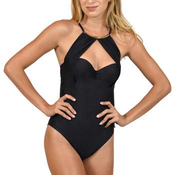 Textiel Dames Badpak Lisca Bari  1-delig voorgevormd zwempak Parelmoer Zwart