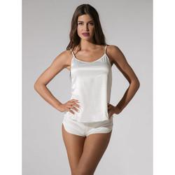 Textiel Dames Pyjama's / nachthemden Luna Prestige Shorts Geel