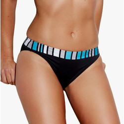 Textiel Dames Bikinibroekjes- en tops Selmark Geometrica  Mare zwempakkousen Parelmoer Zwart