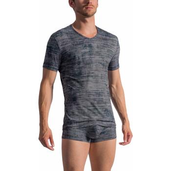 Textiel Heren T-shirts korte mouwen Olaf Benz T-shirt met korte mouwen en V-hals RED 1767 Lichtgrijs