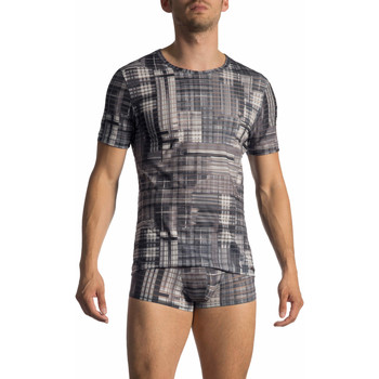 Textiel Heren T-shirts korte mouwen Olaf Benz T-Shirt korte mouwen RED 1772 Lichtgrijs