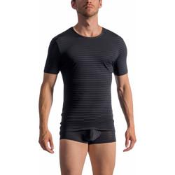 Textiel Heren T-shirts korte mouwen Olaf Benz T-Shirt korte mouwen RED1761 Parelmoer Zwart