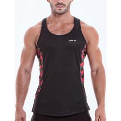 Textiel Heren Mouwloze tops Code 22 Camo Tank Top Code22 Parelmoer Zwart