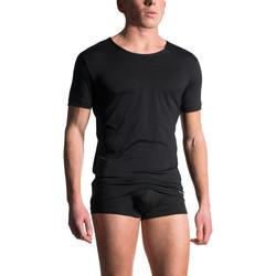 Textiel Heren T-shirts & Polo's Manstore M103  T-Shirt met korte mouwen Parelmoer Zwart