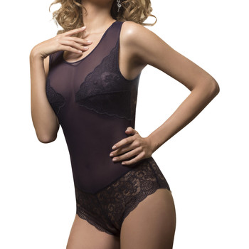 Ondergoed Dames Body Luna Midnight Lace Body van Paars/oranje