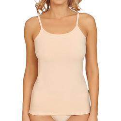 Textiel Dames Pyjama's / nachthemden Lisca Aura  natuurlijke katoenen tank top Pruim