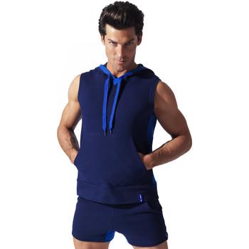 Textiel Heren Mouwloze tops Code 22 Sweet Hoody Sleeveless Sport Code22 Blauw