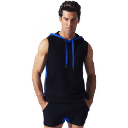 Textiel Heren Mouwloze tops Code 22 Sweet Hoody Sleeveless Sport Code22 Parelmoer Zwart