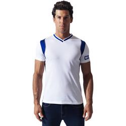 Textiel Heren T-shirts korte mouwen Code 22 Tee-Shirt Contrast Sport Code22 Wit