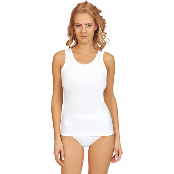 Textiel Dames Pyjama's / nachthemden Lisca Aura  katoenen tanktop Wit