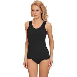 Textiel Dames Pyjama's / nachthemden Lisca Aura  katoenen tanktop Parelmoer Zwart