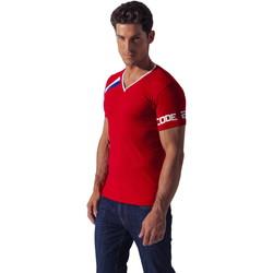 Textiel Heren T-shirts korte mouwen Code 22 Asymmetrische Sport Tee-Shirt Code22 Zand