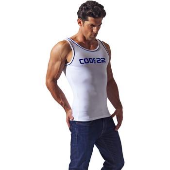 Textiel Heren Mouwloze tops Code 22 Basiscode22 Tank Top Wit