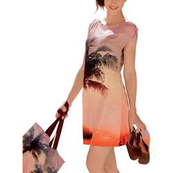 Textiel Dames Korte jurken Lisca Strandjurk Copacabana Oranjeange