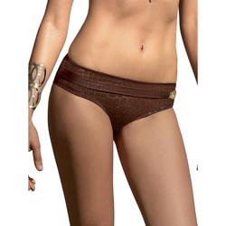 Textiel Dames Bikinibroekjes- en tops Selmark Sofisticada  Mare zwembroekjes Chocolade/oranjeanje