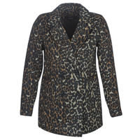 Textiel Dames Mantel jassen Vero Moda VMCOCOLEOPARD Bruin