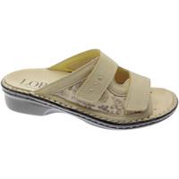 Schoenen Dames Leren slippers Calzaturificio Loren LOM2714be bianco