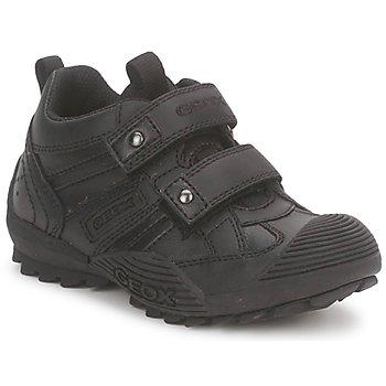 Schoenen Jongens Lage sneakers Geox SAVAGE A Zwart