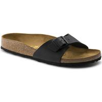 Schoenen Dames Leren slippers Birkenstock Madrid bf Zwart