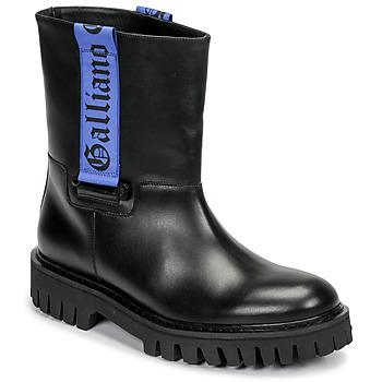 Schoenen Heren Laarzen John Galliano 8560 Zwart / Blauw